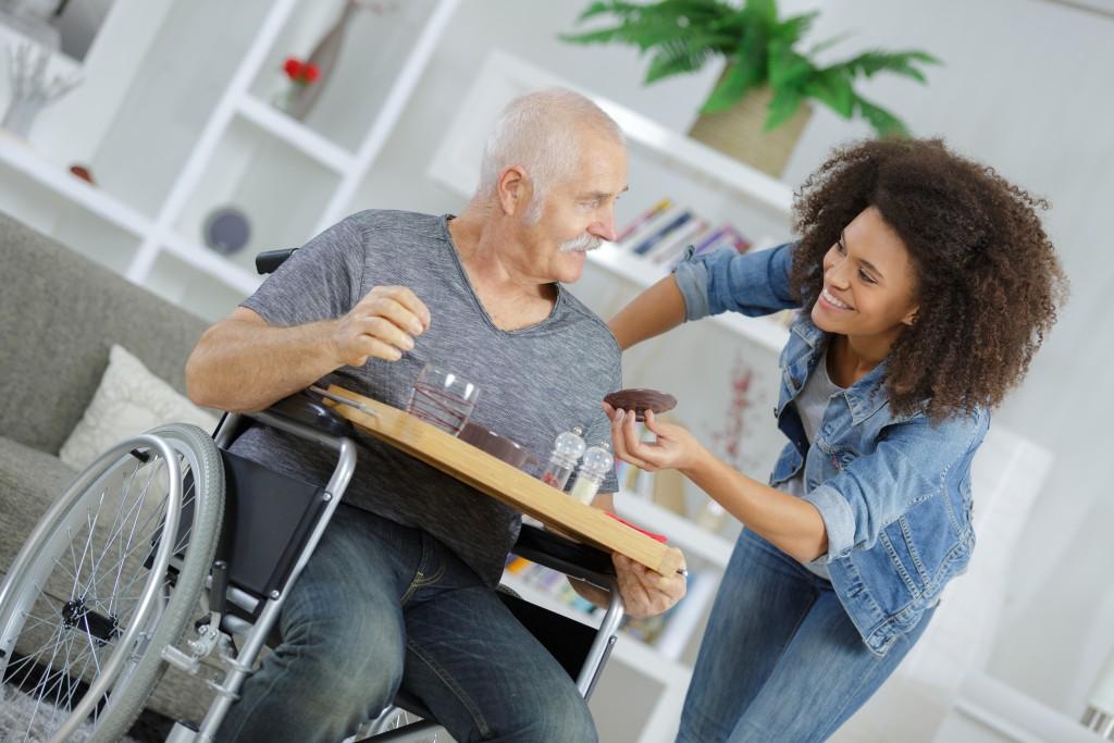 parent in a nursing home