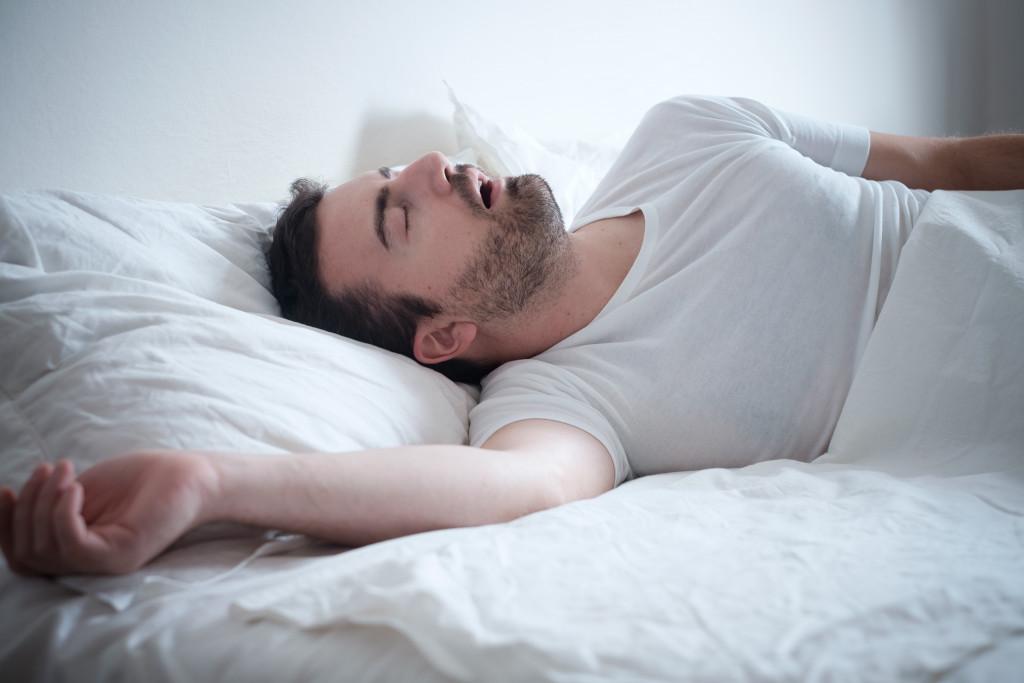 man sound asleep