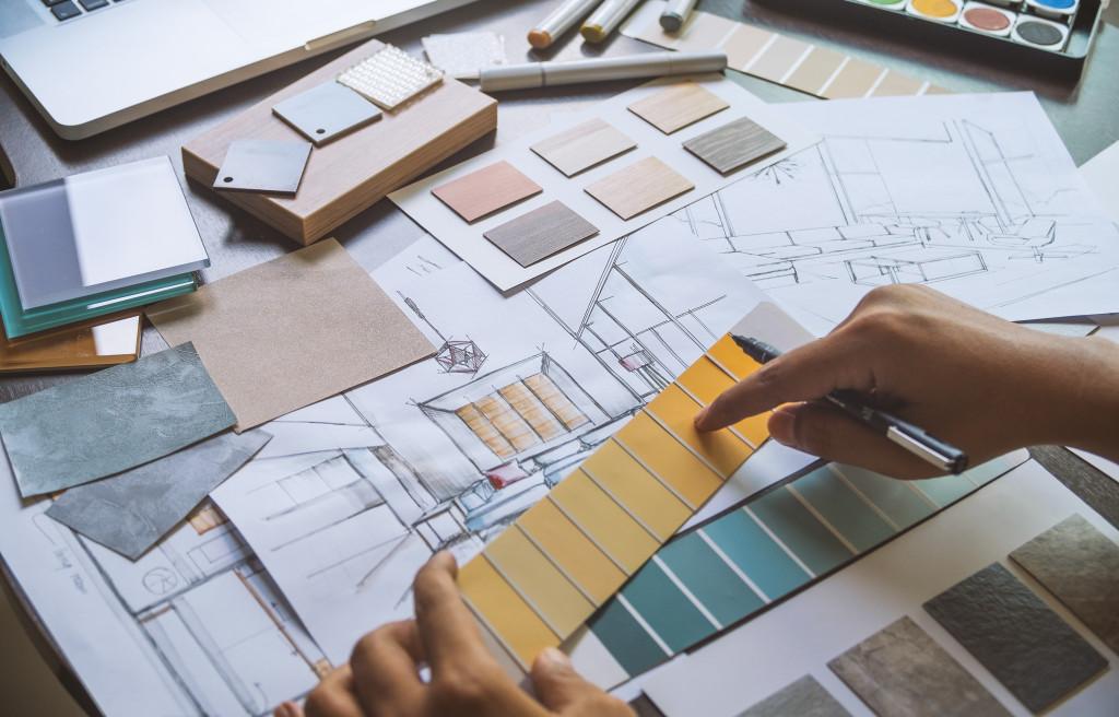man working on home design