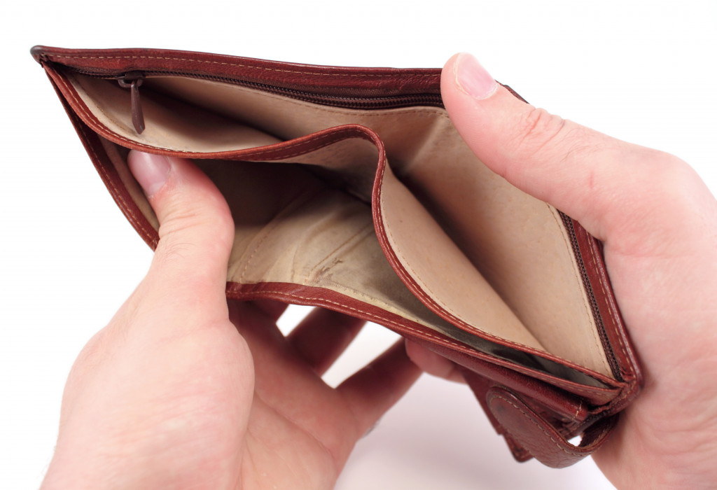 opening an empty wallet